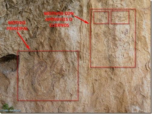 Panel completo - Abrigo 5 del barranco de Famorca - Alicante