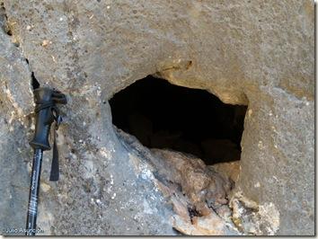 Posible agujero ritual - Barranco de Famorca - Alicante