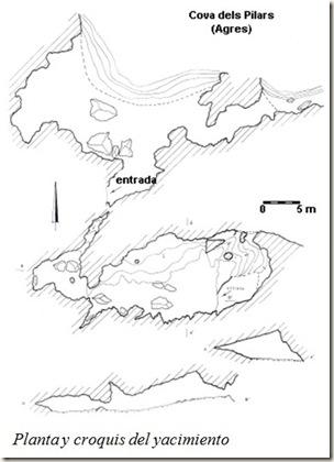 croquis Cueva de los Pilares