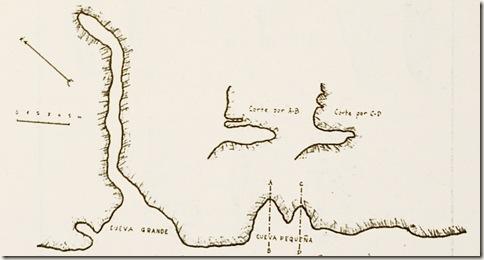 Plano de las cuevas por Jose María Soler