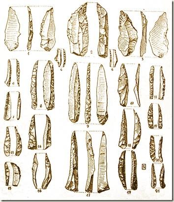 útiles encontrados en la cueva grande de la Huesa Tacaña - Villena