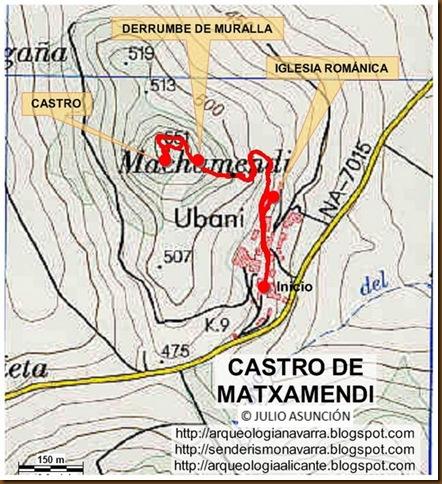 Mapa castro Matxamendi