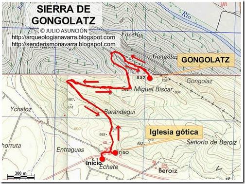 Mapa sierra de Gongolatz