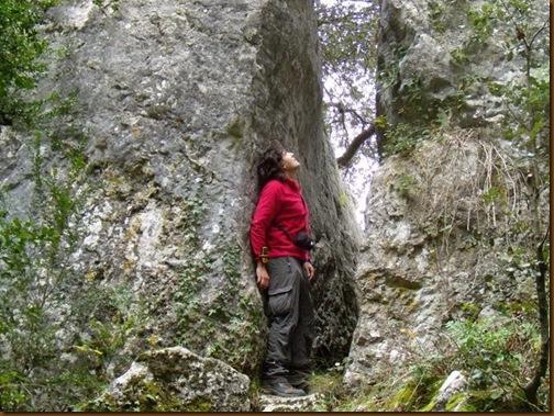 Acceso al santuario de San Quiriaco - Echauri