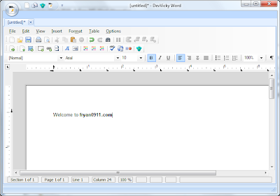 DevVicky Word 2010: Free Alternative To MS Word