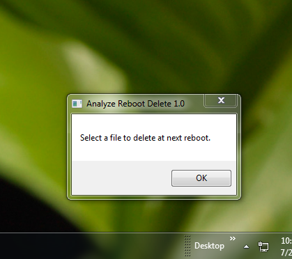 Remove Running Malware Or Virus On Next Reboot