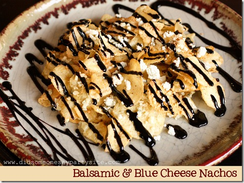 Balsamic & Blue Cheese Nachos