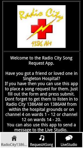 Radio City 1386AM Request App