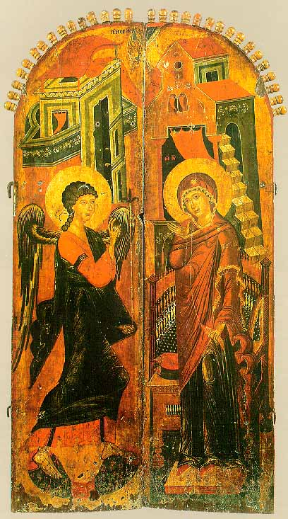 Annunciation on Royal Doors Gabriel