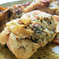 Rabbit in Stilton-Mustard Sauce