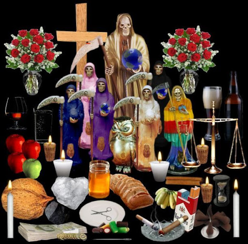 Altar para la Santa Muerte