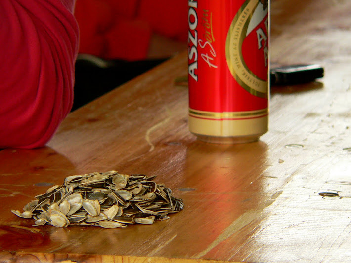 sunflower seed and arany ászok beer
