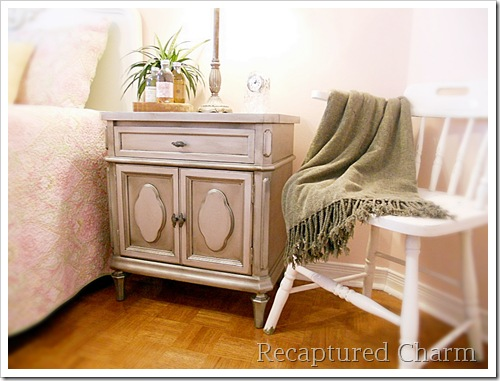 Silver Metallic Night Stands 053a