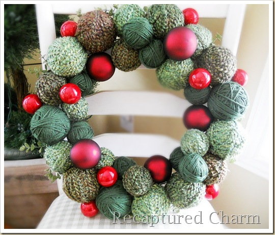yarn christmas wreath 041b