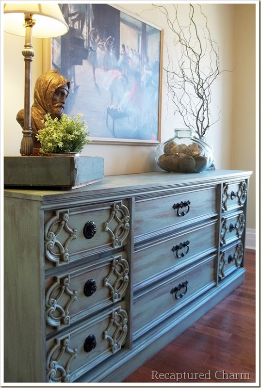 turquoise dresser 063a