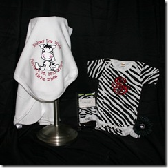 zebra baby set