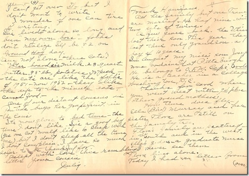 WEBSTER, Julia Ann WEBSTER Letter to Emma Ellen HANIFAN 01-B