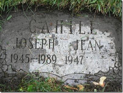 CAHILL, Joseph CAHILL Gravestone