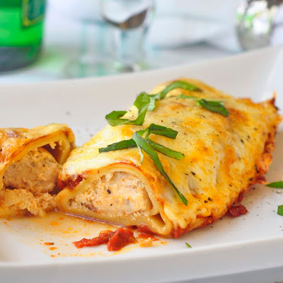 Chicken Margherita Cannelloni