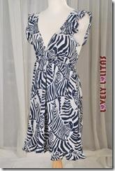 Demure Zebra Dress