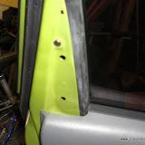 Upper trim piece pulls straight off