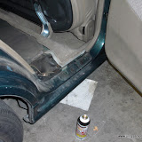 Some jacking damage, but not so much as to affect the door.