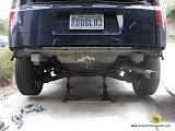 Rear bumper removed