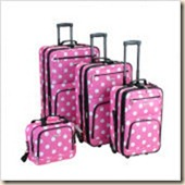 4 Piece Luggage Set in Pink Dots
