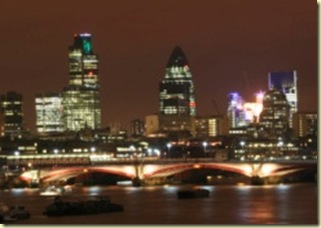 London lights at night