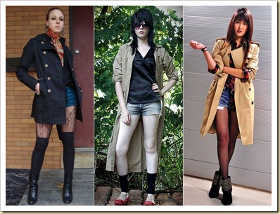 trench coat com jeans 1