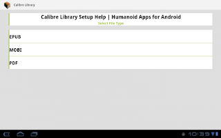Screenshot of Calibre Library