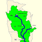 map of the upper Mississippi river valley.