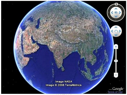 Google Earth Fun - Google maps globe