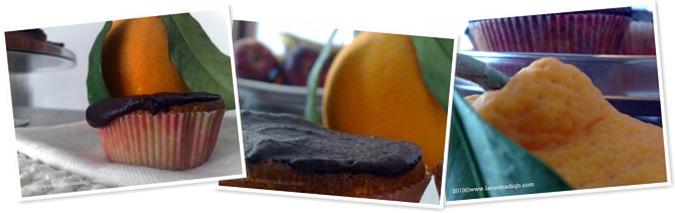 Visualizza cup cake arancia e cioccolto fondente