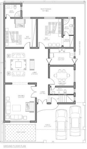 8 marla house plan pakistan joy studio design gallery best design House map drawing