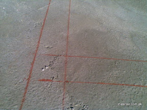 Markings for raft foundation