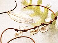 hojas de pasta de plata joyas de bisuteria   Recuerdos de la naturaleza