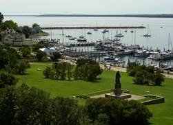 Mackinac Marina from Fort