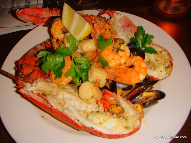 Hot seafood selection