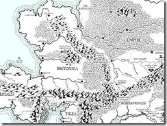 Karte von Bretonia, dem Wald von Loren und den umliegenden Regionen (Games Workshop)