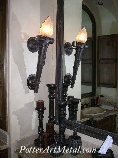 Decorative torch sconces :  torch sconces hurricane metalwork ironwork custom