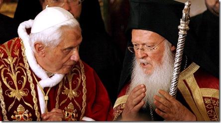 Benedicto XVI y Bartolomé I