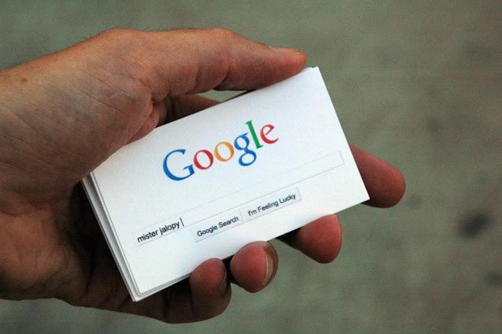 Biglietto da visita con Google