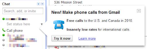 GMail Call