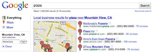 Google gelocalizza la ricerca