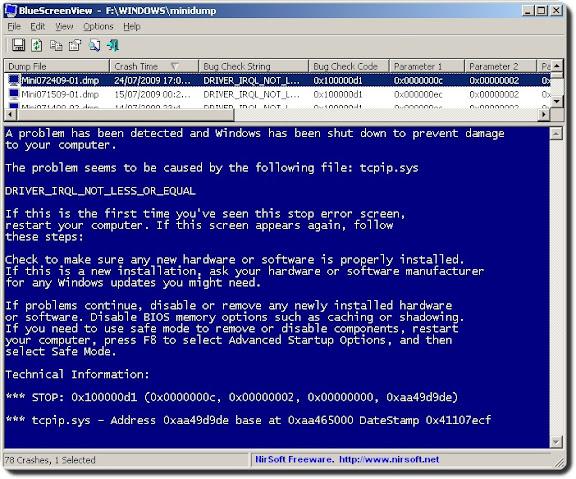 Scoprire perchè Windows è andato in crash con la schermata blu