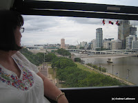 Grandma Karen in The Wheel of Brisbane at Southbank Parklands Brisbane.