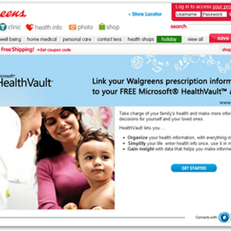 Walgreens and HealthVault Connection Now Available