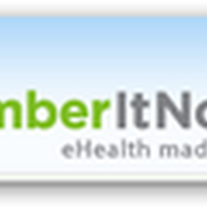 RememberItNow! Web Based Program and PHR – Text Messages and Emails Sent for Medication Reminders