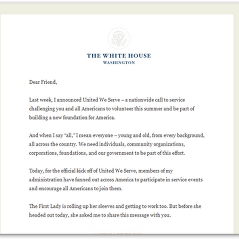 """United We Serve"" Kick-Off from the White House – Healthcare Innovation and Getting Involved"